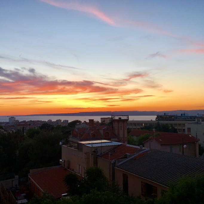 Sunset depuis la cuisine