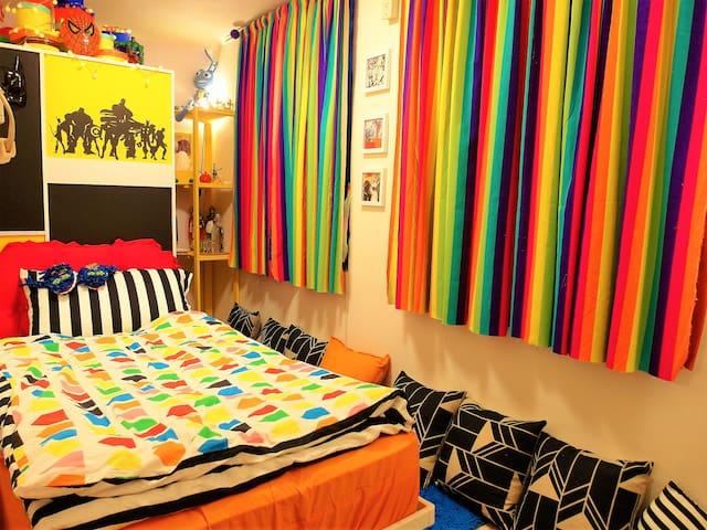 童話情境單人床房型,價格最低廉但環境最好的度假屋,可1-2人入住!