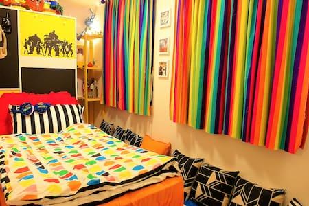 童話情境單人床房型,價格最低廉但環境最好的度假屋,可1-2人入住! - Beitou District