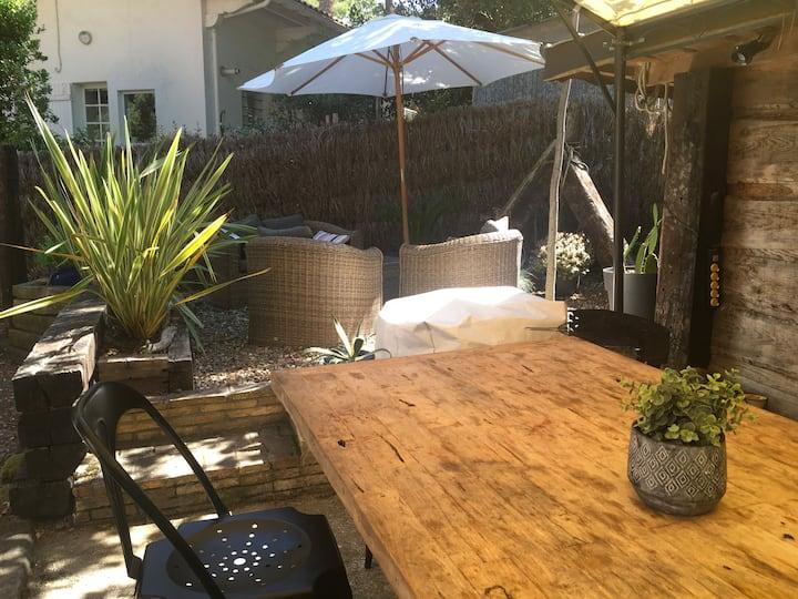 Grand studio style loft avec jardin au Moulleau