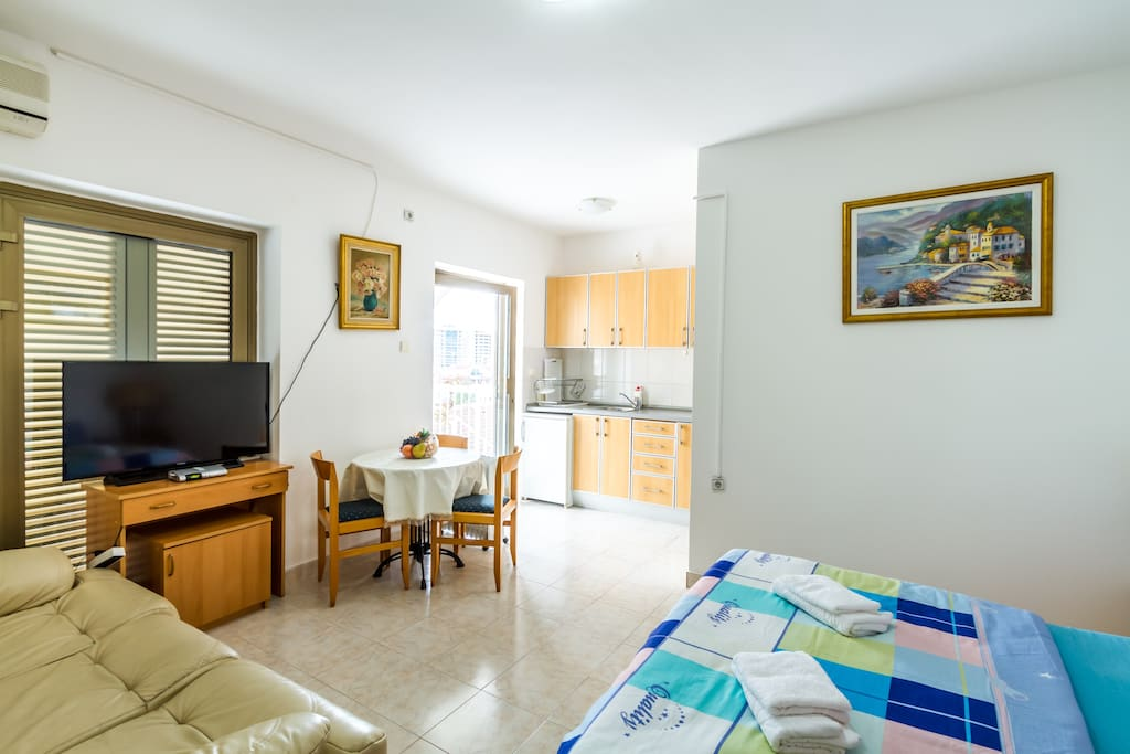 Our guests should feel like at home. Our house is a family house and we welcome everyone to join us for a nice vacation experience in Budva!