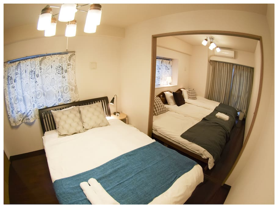 Double bed + 3 single beds