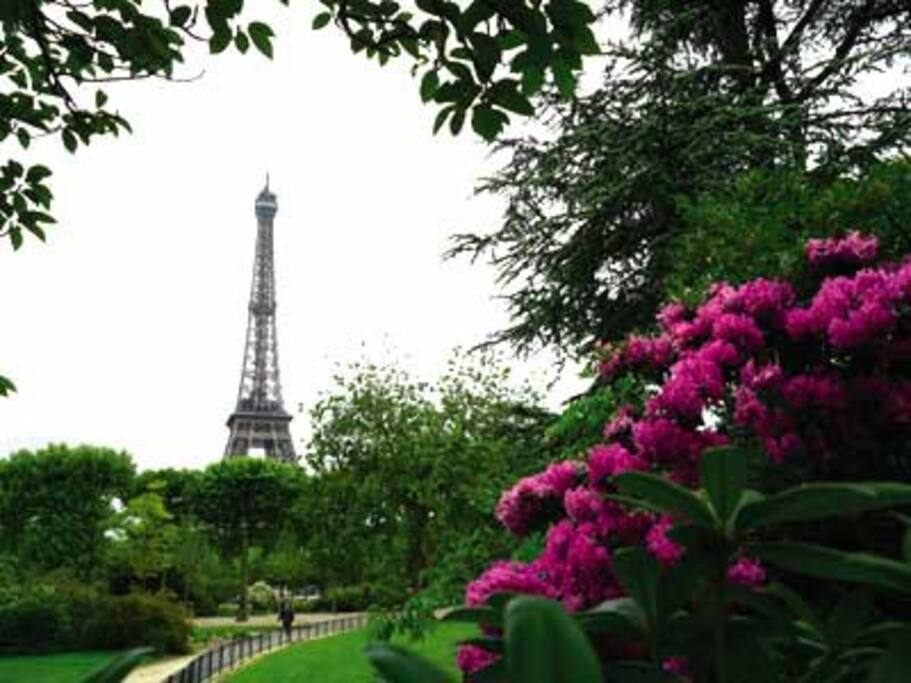 2 steps from the Champs de mars & the effeil tower