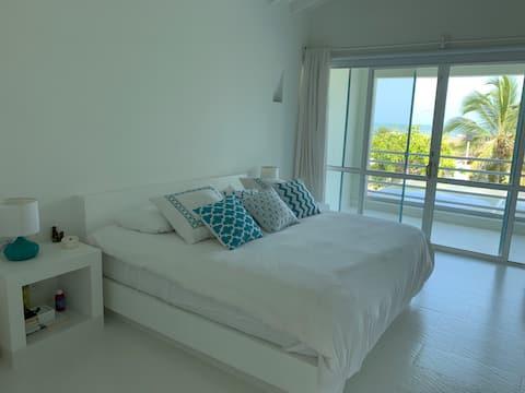 Casa boutique en Cartagena con playa privada