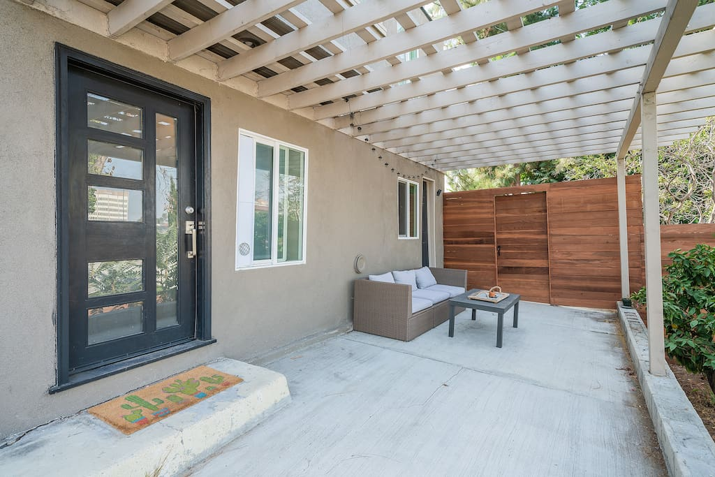 Private patio with it's own private entrance