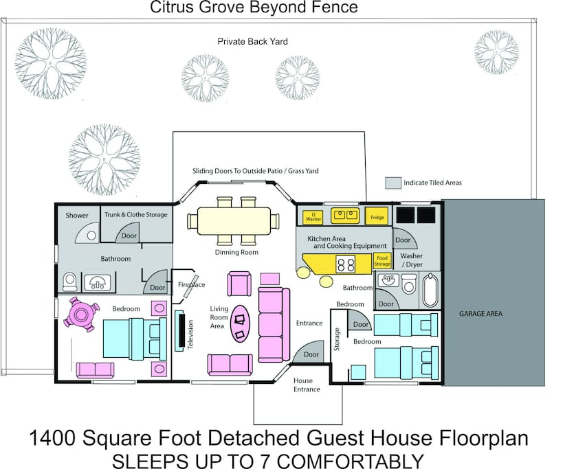 Floor plan of the Guest House
