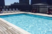 Pool view of downtown on the 9th floor!