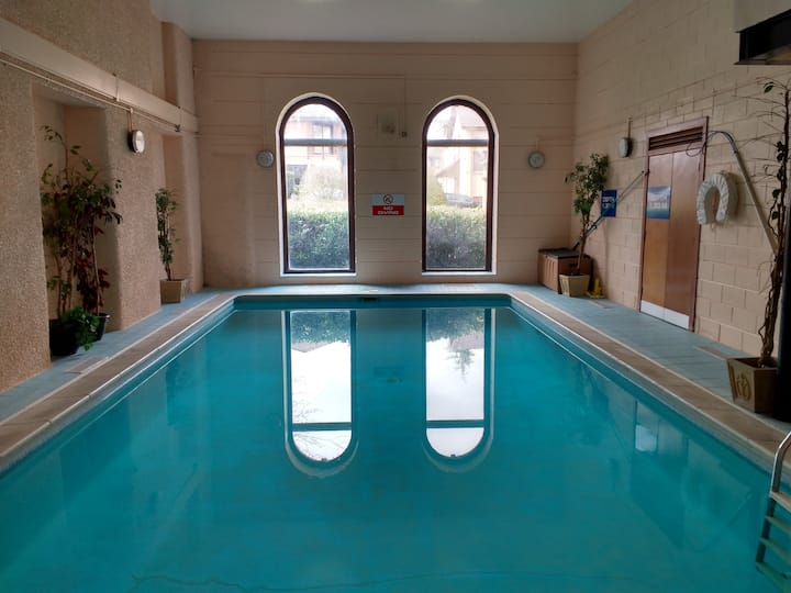 Flat in converted old mill with indoor pool