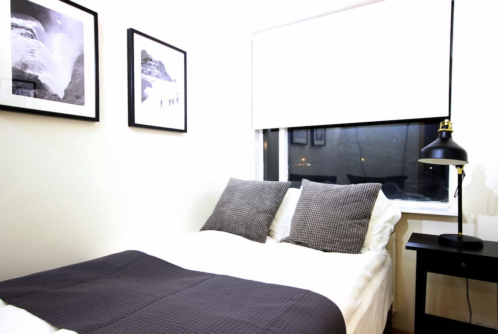 There are two bedrooms in the apartment. One has 120cm bed.