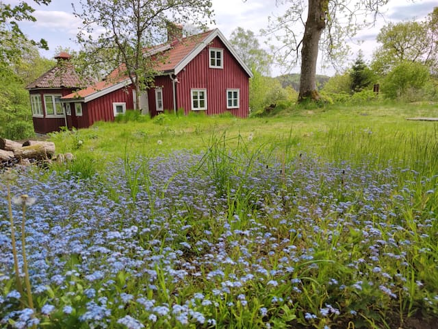 Red house by lake, close to airport and Göteborg!