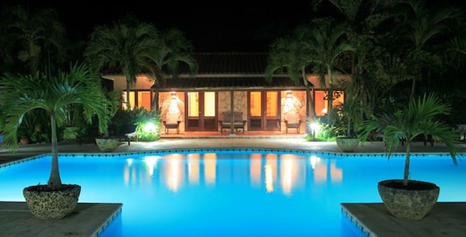 Night view of pool