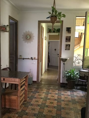 Room in a Gracia artist house.