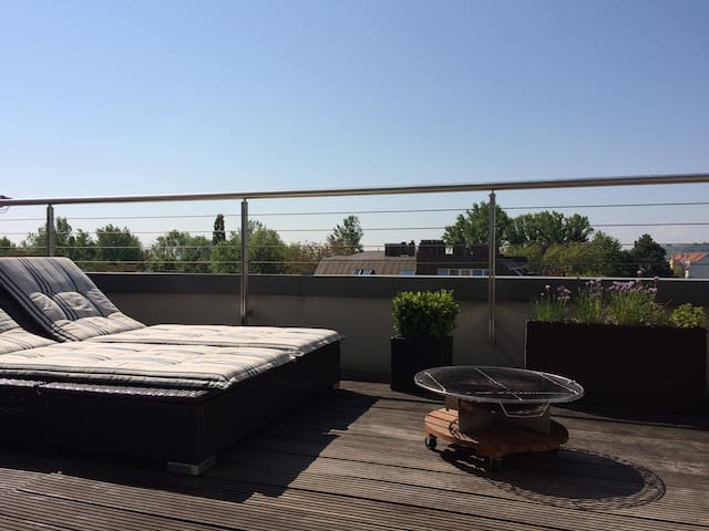 Modern, spacious apartment with a great view - Mödling - Apartament