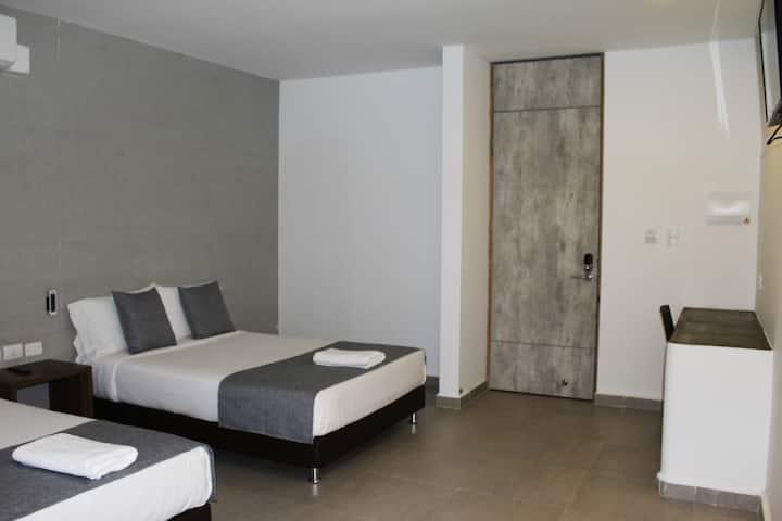 """Habitación 2 Camas en """"HAUSEN"""", Lorica"""