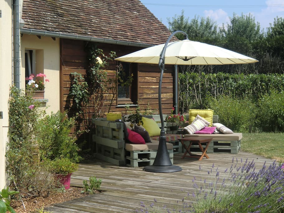 jardin cote terrasse