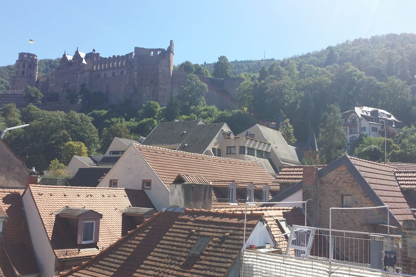 The castle, general pictures of Heidelberg (not viewed from the apartment...;)
