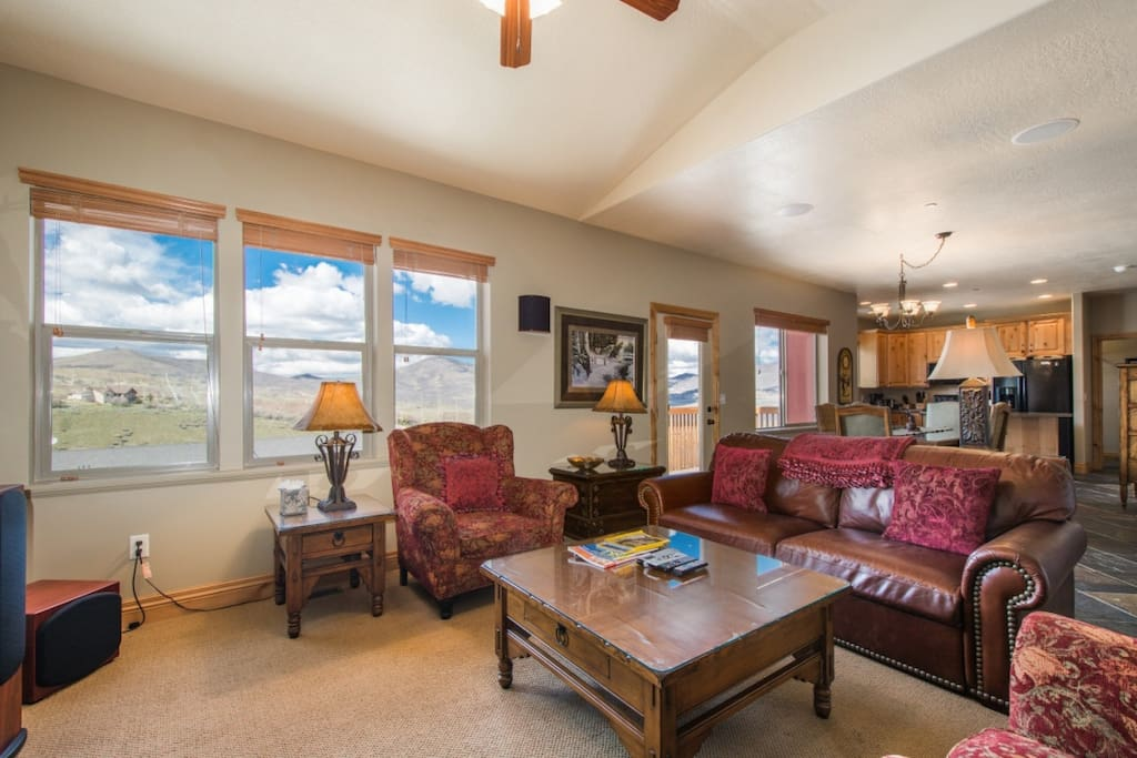 The home is also fully equipped with Wi-Fi, so you can remain social or work while visiting Park City.