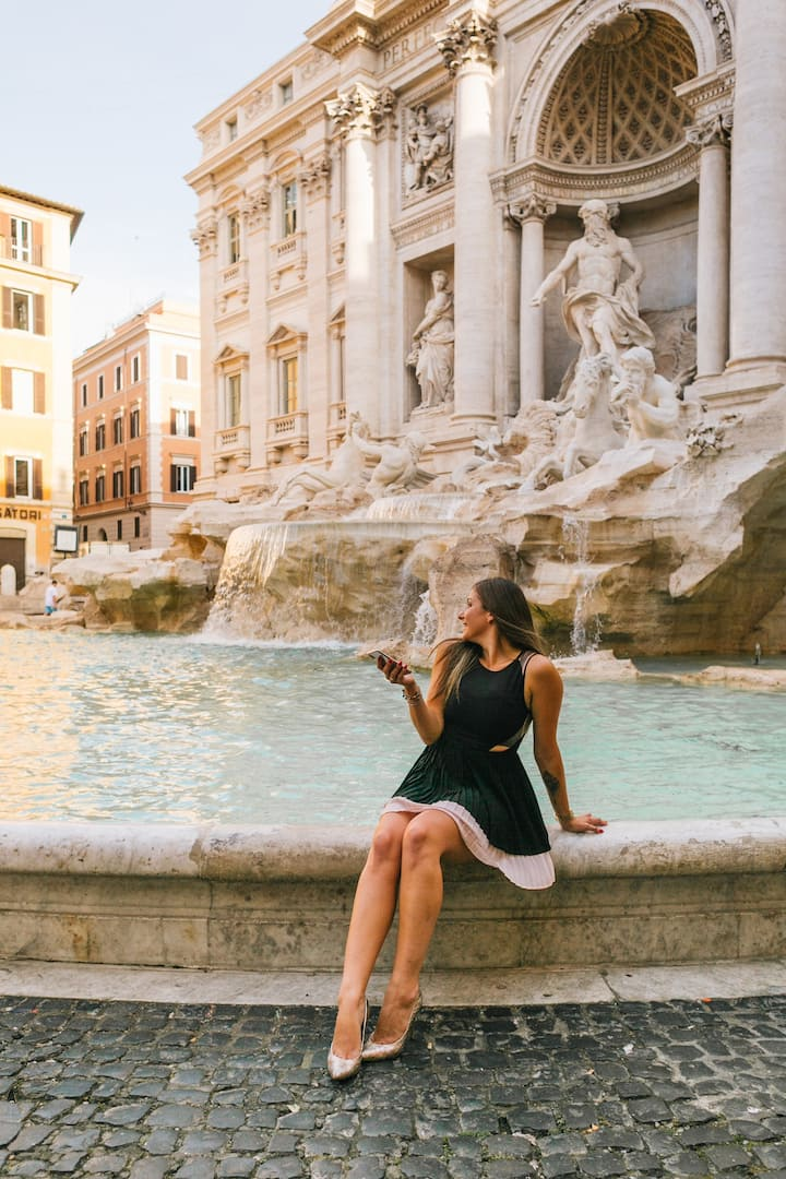 Sitting by the Trevi