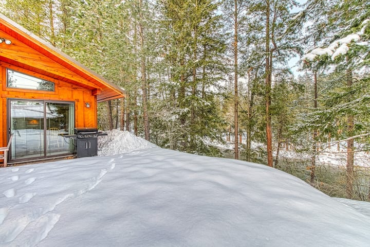 Riverfront cabin w/ patio & viewing deck, outdoor recreation nearby - dogs OK!