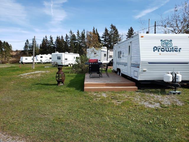 roulotte du voyageur  25 pi  Camping du Cap Rouge
