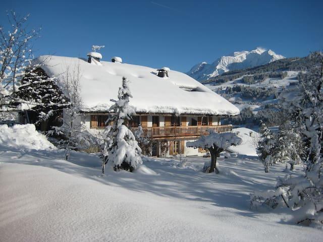 Chalet, grand appartement vue Mt Blanc à Megève