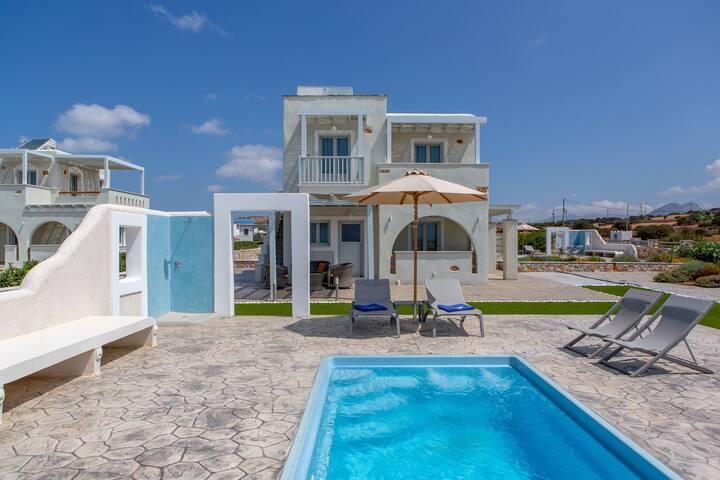 Two Bedroom Villa Private Pool & Sea View (Blue)