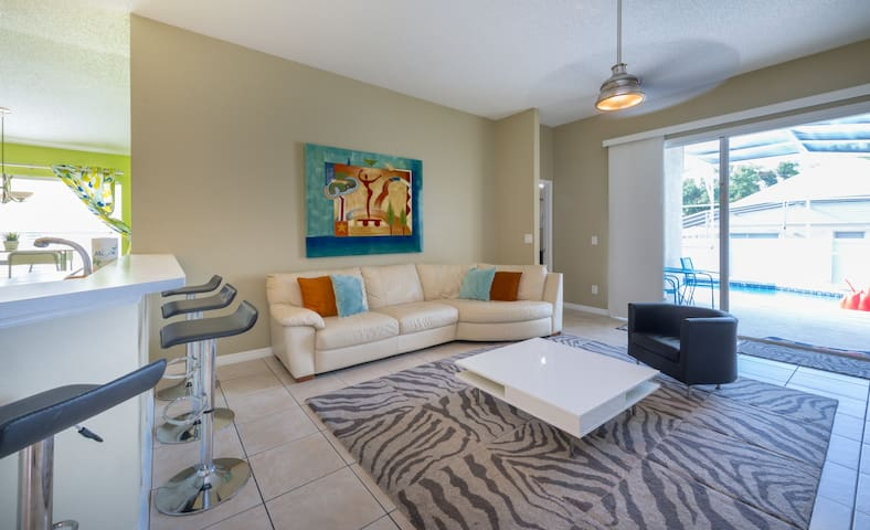 Spacious 3BR Home + King Bed: Near Disney w/ Pool!