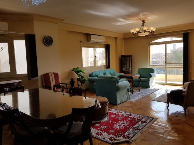 Sunny Apartment in Choueifat Area, New Cairo City