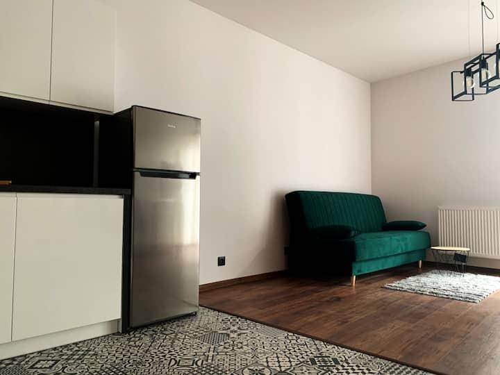 Nowoczesny apartament dla 2 osób w centrum Łodzi