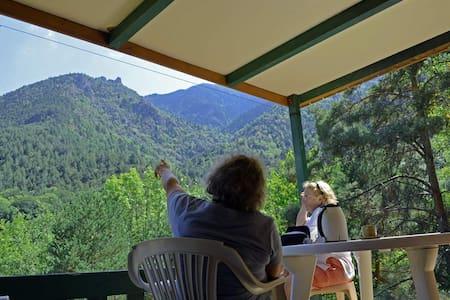 chalet avec vue sur la montagne - Escaro - スイス式シャレー