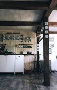 Domek Poziomek- dom nad jeziorem Chańcza.