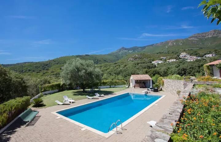 Deux chambres dans villa proches aéroport Bastia.