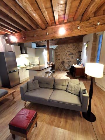 Appartement style loft de 39 m² dans le Vieux Lyon