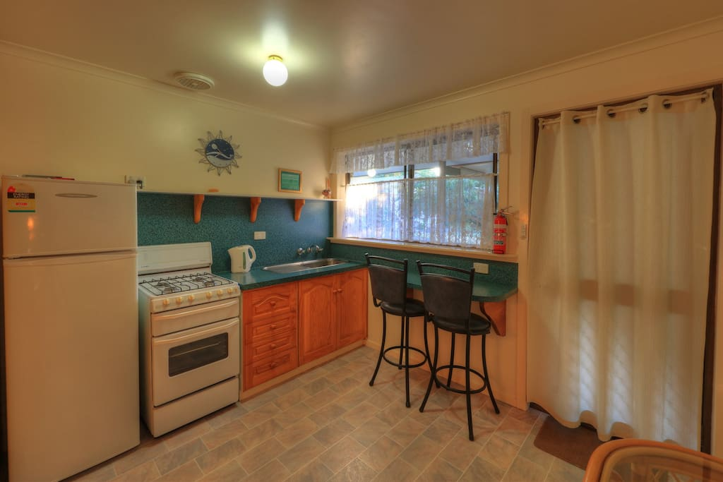 Self contained kitchen, with breakfast provided.
