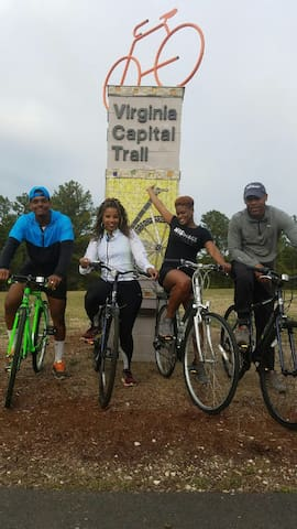 The start of the Capital Bike Trail is within walking distance