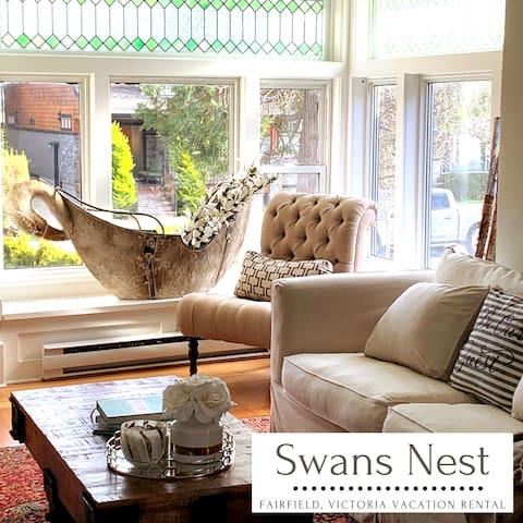 Luxury 1 bed Suite; Swans Nest, Fairfield Victoria