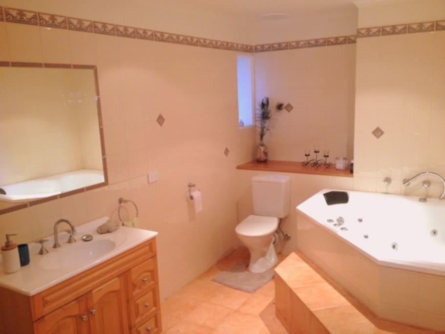 Your own private bathroom, with shower and spa bath.