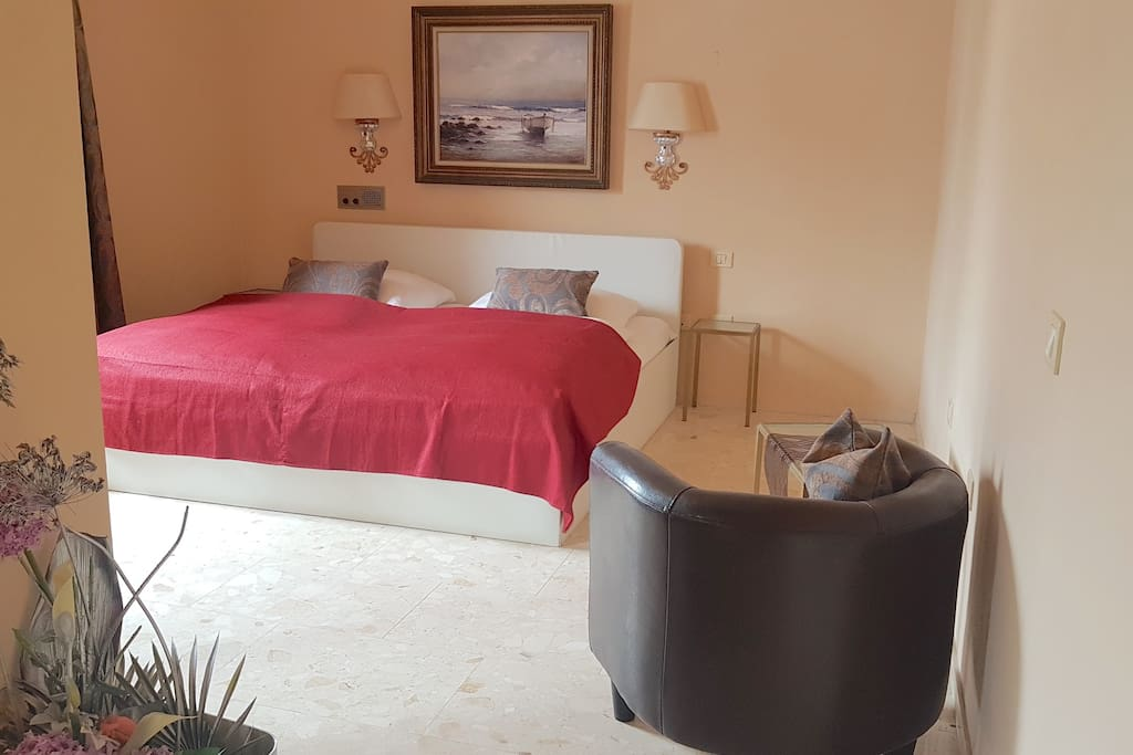 Large sleeping area with king bed