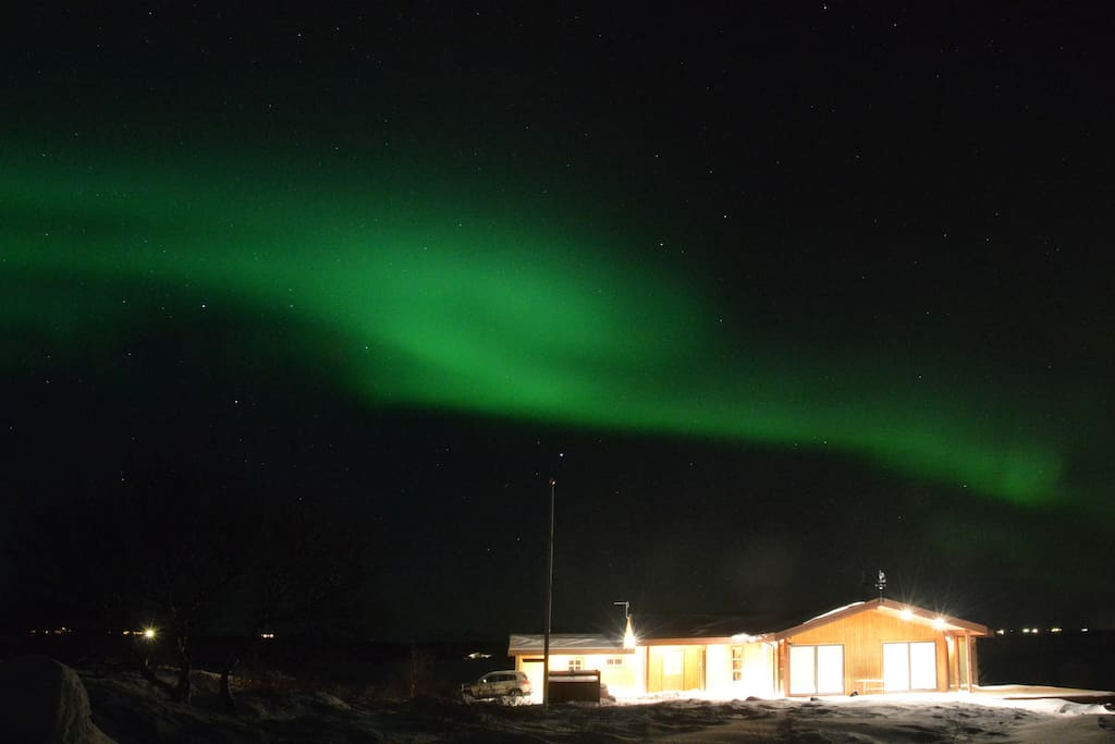 http://www.iceland-rent-house.com/  The main  house and northen lights