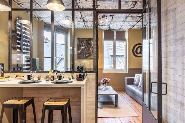 Studio  Les charmes 2  Centre historique Honfleur - Honfleur - Apartamento