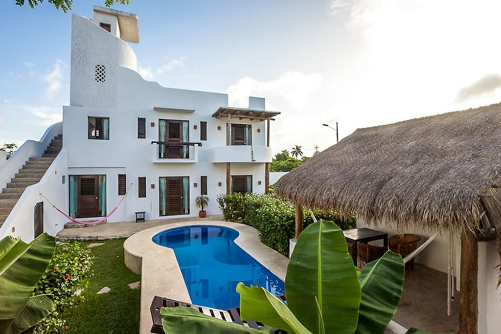 Cozumel Suites &Apartments Rentals- on the right private terrace of Sugar bungalow