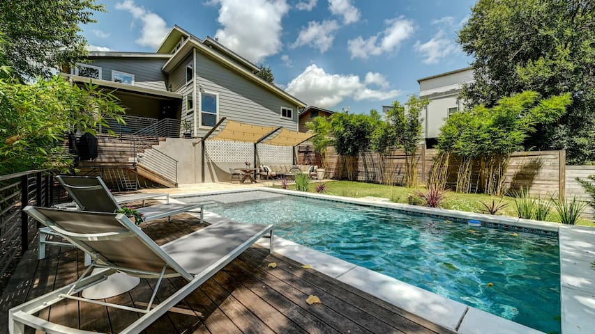 Luxury Oasis on Luna w/ Sparkling Pool - Minutes from Zilker! | Professionally Cleaned + Hosted By GuestSpaces