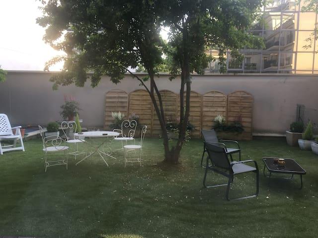 jardin côté chambre