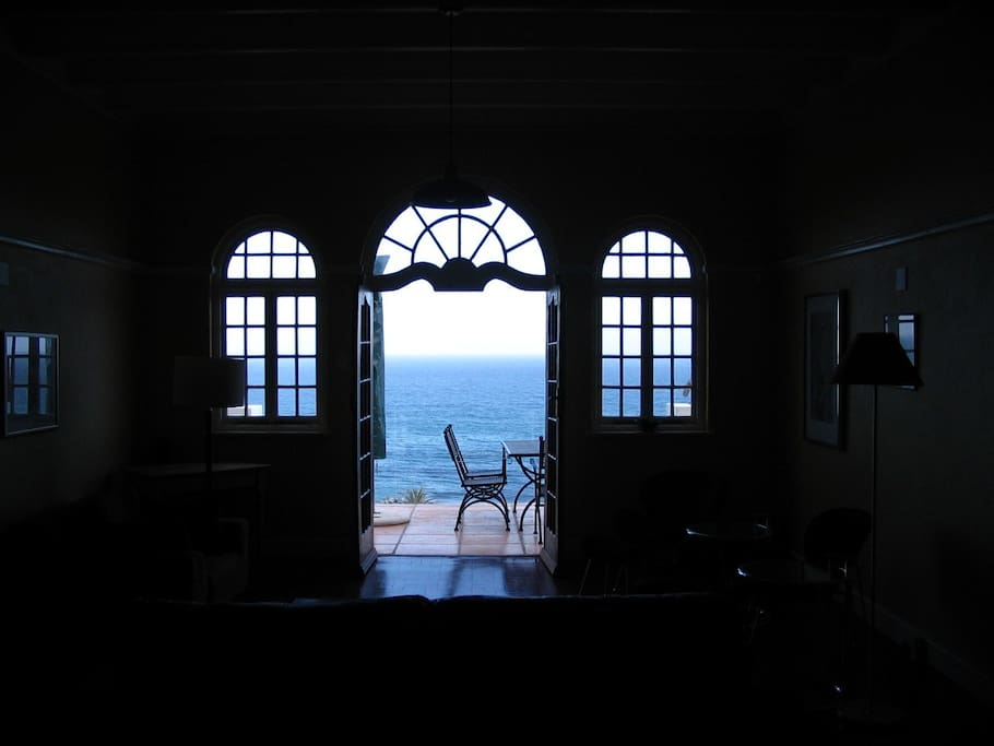 Beautiful view from the lounge towards the sea.