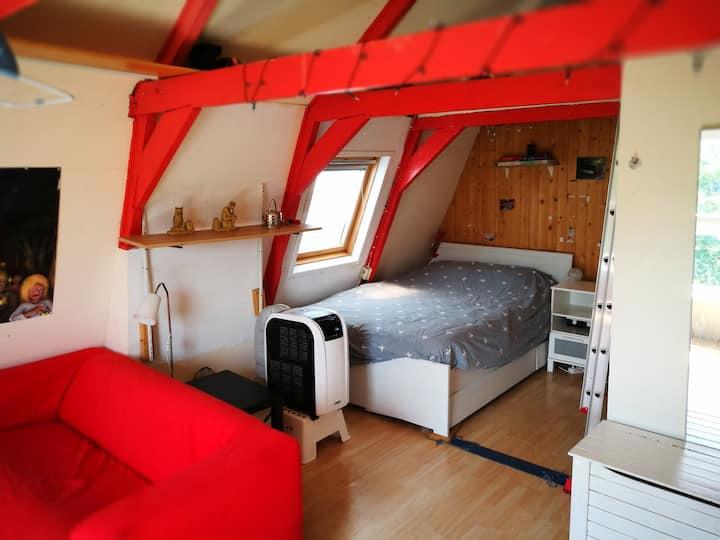Cozy attic-studio close to centre