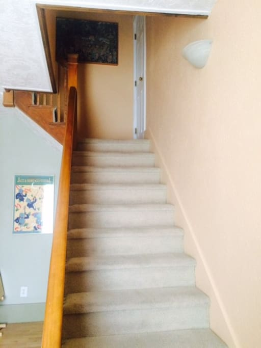 Bedroom is located upstairs in separate private part of the house