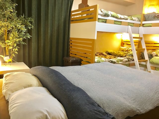 5 beds/Nipponbashi 1 min walk in Dotonbori