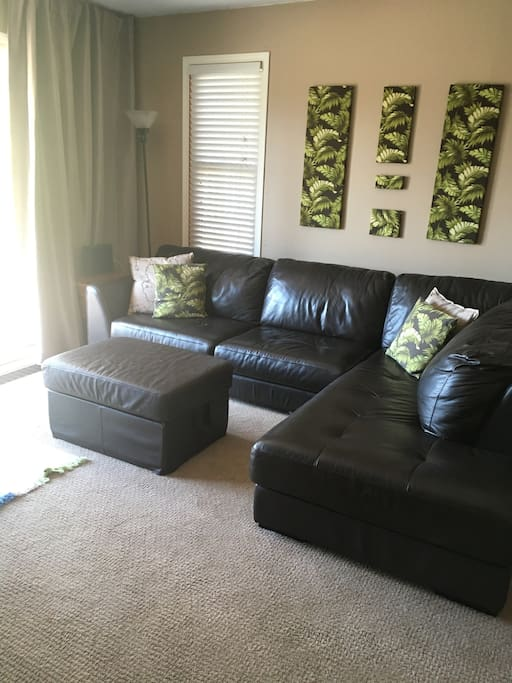 Conformable seating in the living room