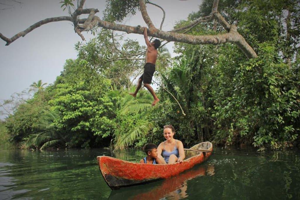 Aventura por el rio, Kayak.