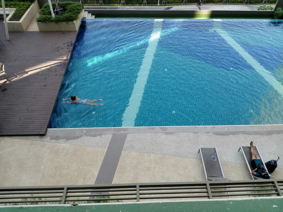 Free swimming pool and free gym